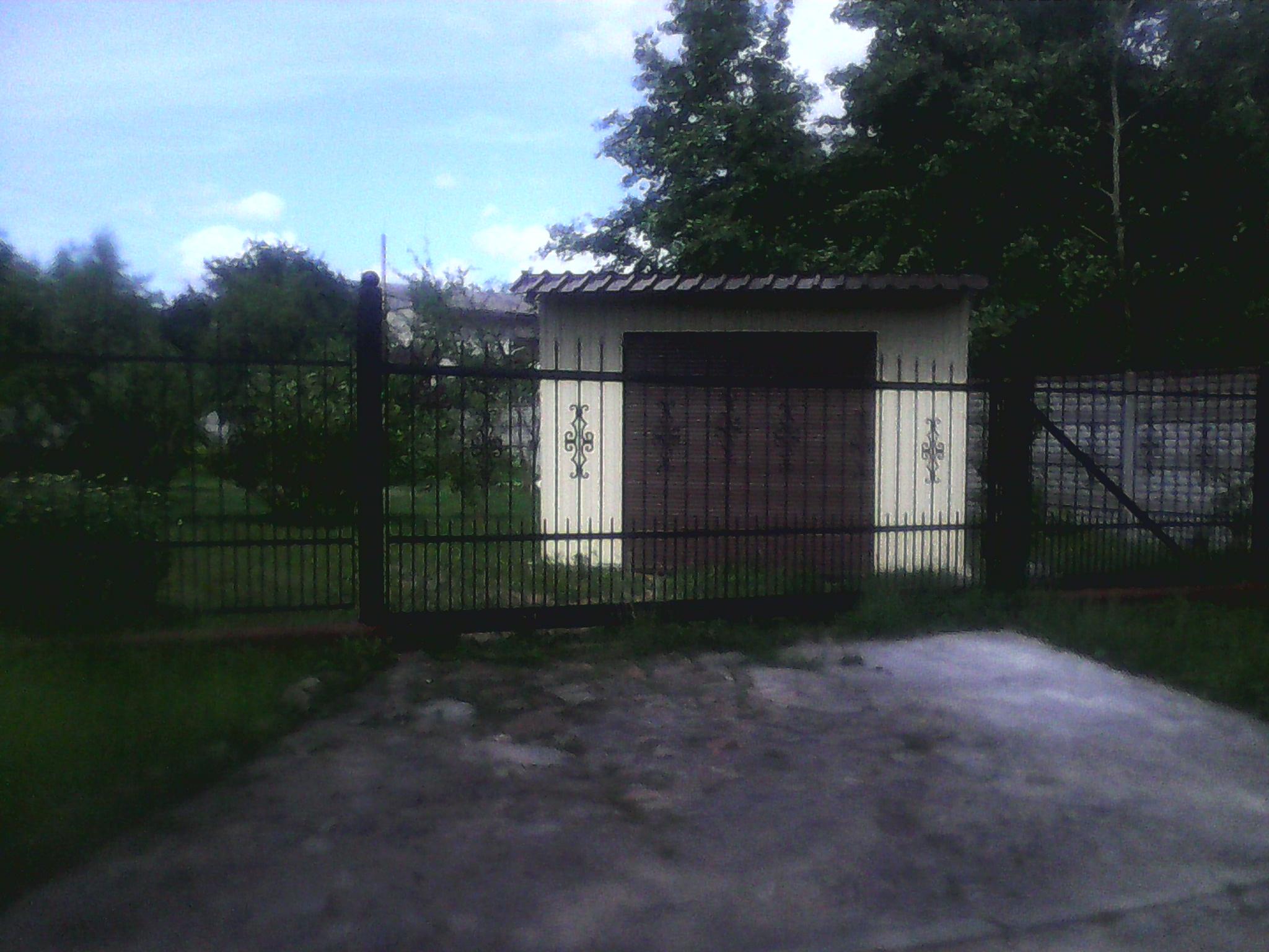 5) Откатные ворота с вставными элементами