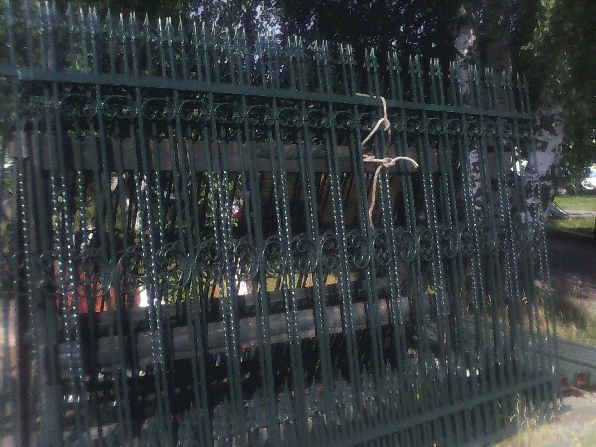 4) Забор кованый 7 пролетов