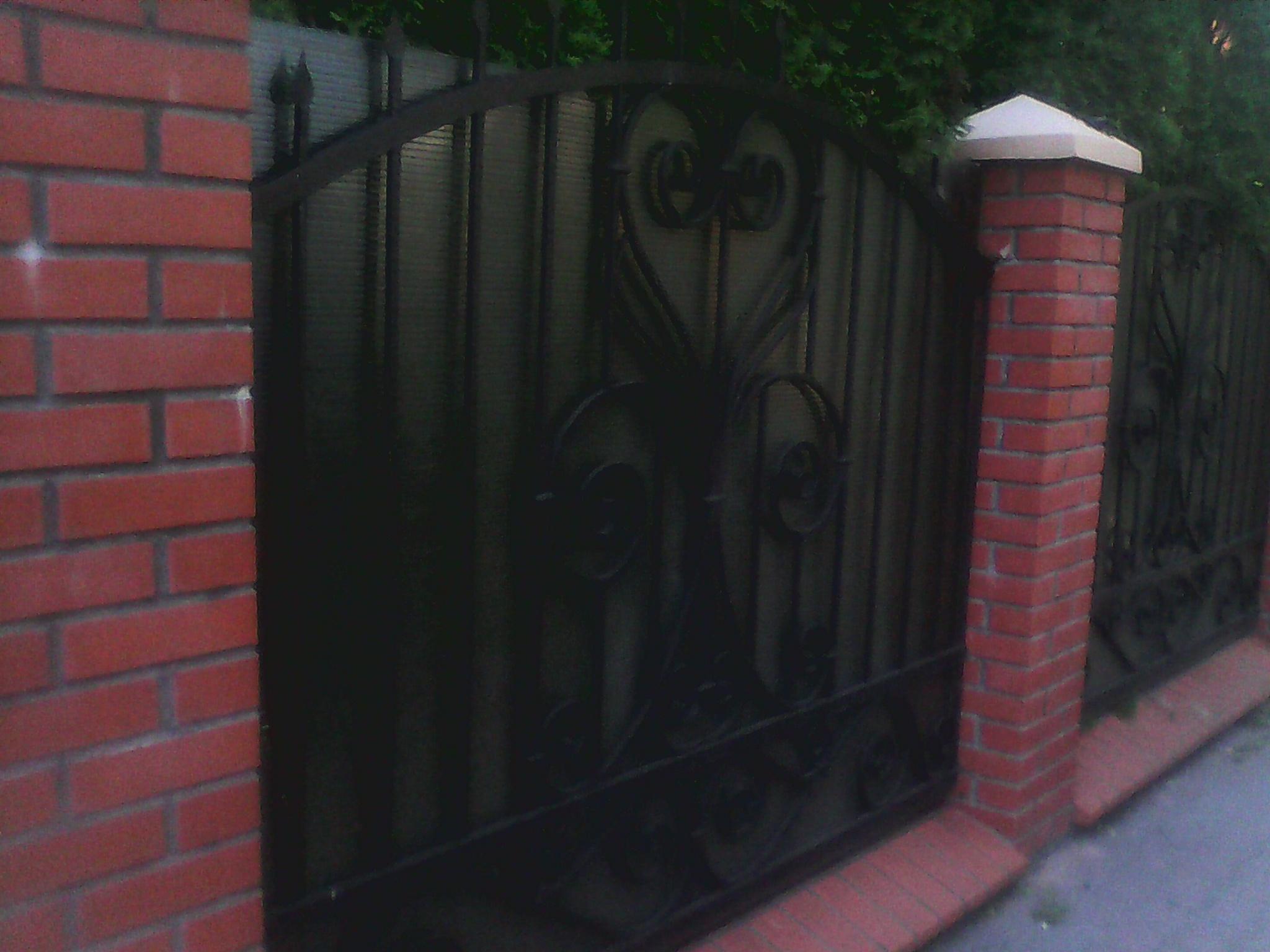 3) Забор кованый с поликорбанатом
