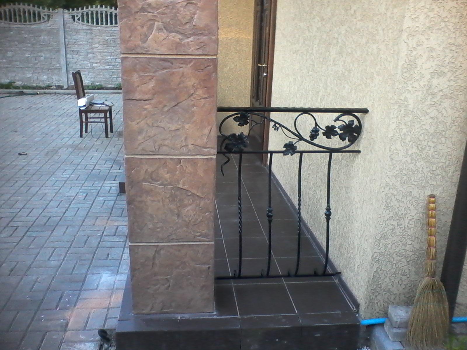 Мини ограждение для уличной террасы или для балкона с выпуклым центральным рисунком