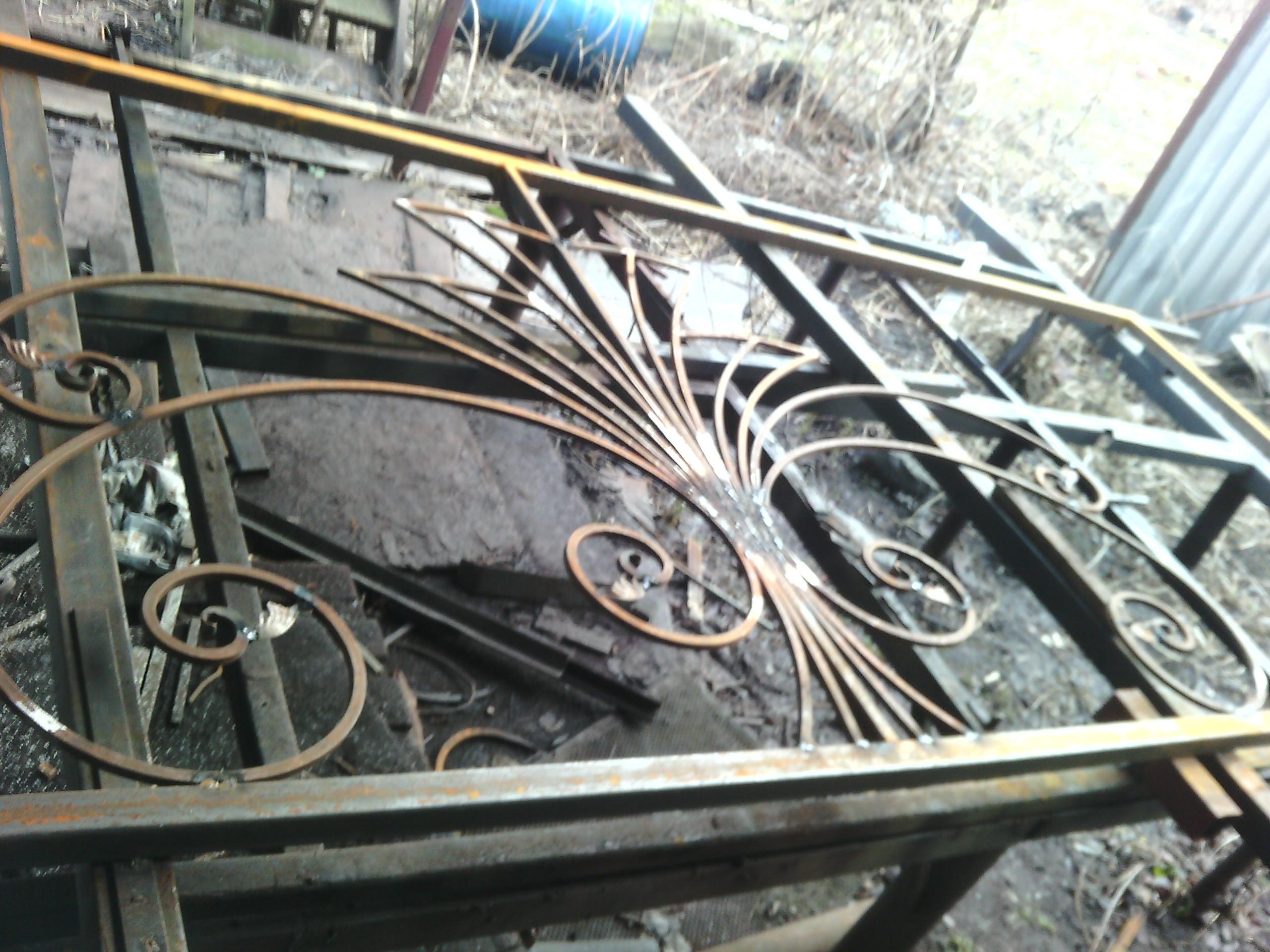 24) процесс изготовления кованых откатных ворот