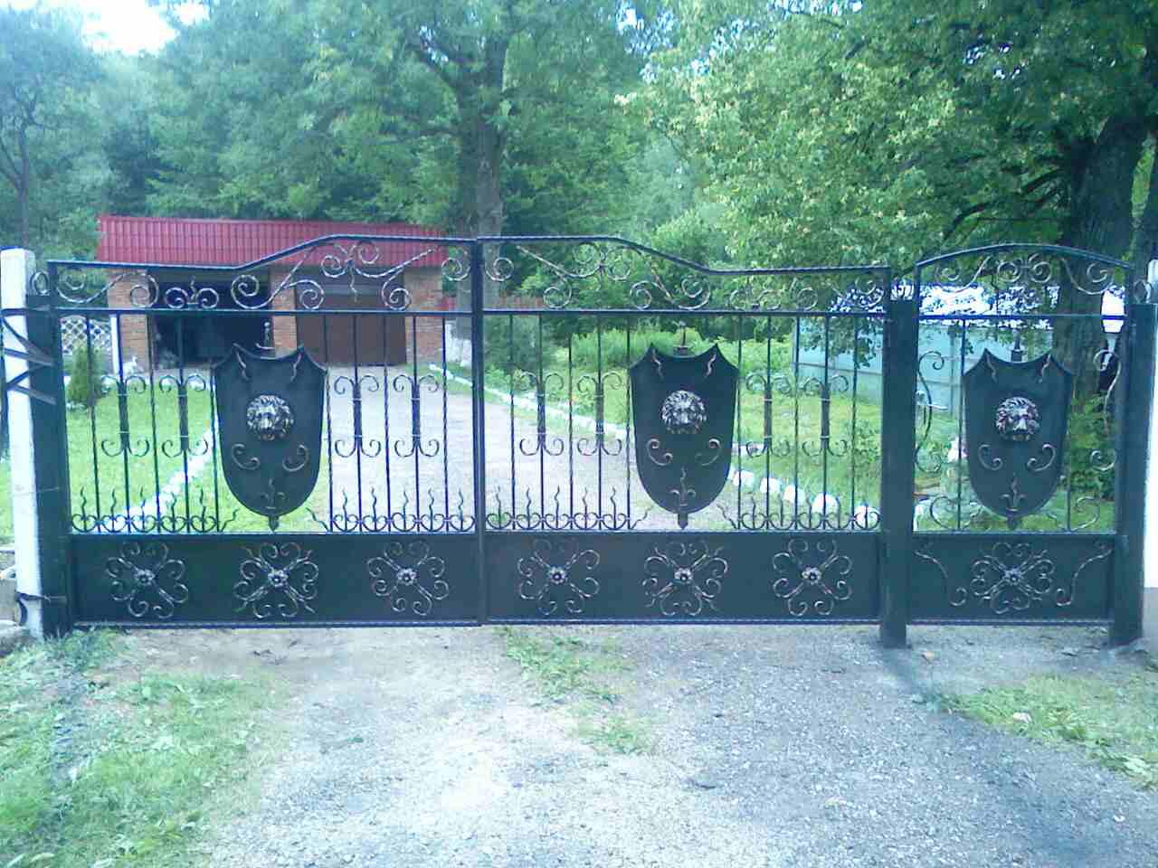 50) Кованые ворота с Львами